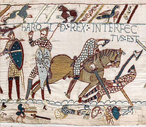 Bayeux Tapestry scene 57 Harold death