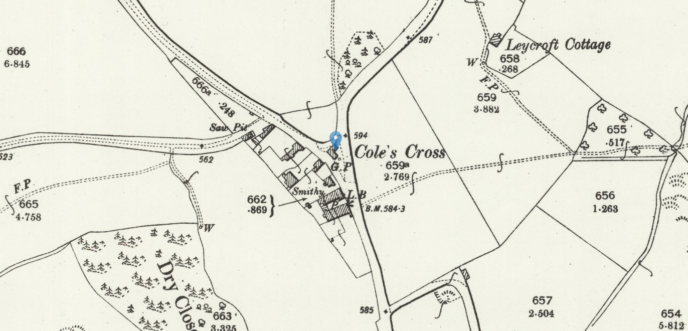 Coles Cross OS 25 inch Map
