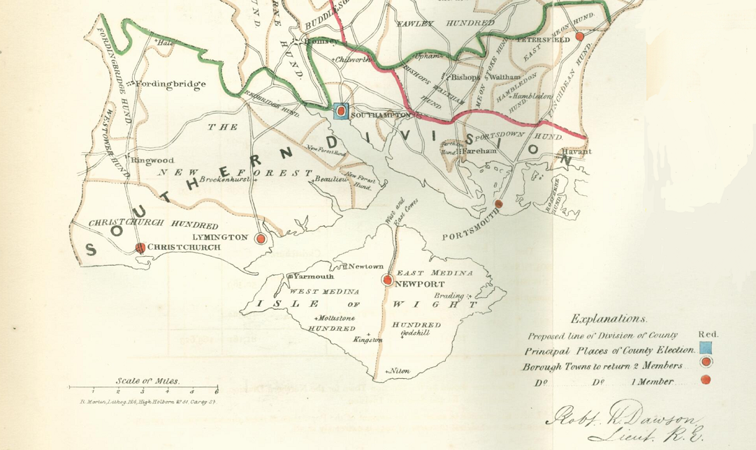 South Hampshire Boundary Map 1832 2